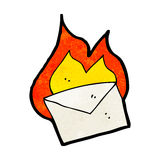 cartoon envelope burning Royalty Free Stock Photo