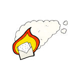 cartoon envelope burning Stock Photo