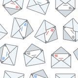 Cartoon Envelope Seamless Pattern Royalty Free Stock Images