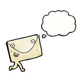 cartoon envelope with thought bubble Stock Images