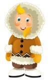 Cartoon eskimo Royalty Free Stock Photography