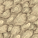 Cartoon ethnic vector Feathers seamless pattern Royalty Free Stock Image