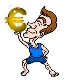 Cartoon euro Royalty Free Stock Photos