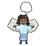 Cartoon everyday angel Stock Photo