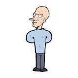 Cartoon evil bald man Royalty Free Stock Image