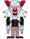 Cartoon Evil Clown. A cartoon illustration of an evil looking clown Stock Images