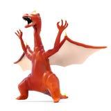 Cartoon evil dragon Royalty Free Stock Image