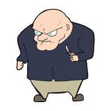 Cartoon evil man Stock Image