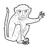 Cartoon evil monkey Stock Image