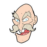 Cartoon evil old man face Stock Image