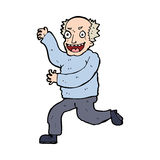 Cartoon evil old man Stock Photos
