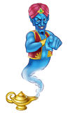 Cartoon Evil Pointing Genie Stock Photos