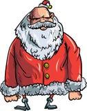 Cartoon evil Santa. Isolated on white Stock Photos
