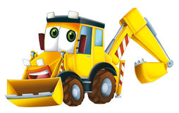 Cartoon excavator. Beautiful illustration for the children Stock Images