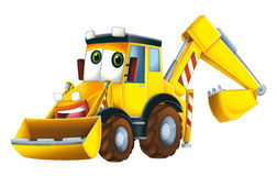 Cartoon excavator Royalty Free Stock Photo