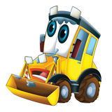 Cartoon excavator - caricature Stock Photo