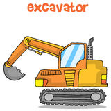 Cartoon of excavator design vector art Royalty Free Stock Photography