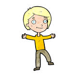 Cartoon excited boy Royalty Free Stock Images