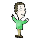 cartoon excited man Royalty Free Stock Images