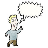 Cartoon excited man talking Royalty Free Stock Photo