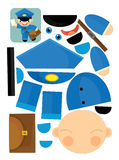 Cartoon exercise with scissors for childlren - postman Stock Photography