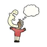 Cartoon exorcism Royalty Free Stock Image