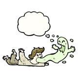 cartoon exorcism Stock Image