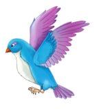 Cartoon exotic colorful bird - flying -  Royalty Free Stock Photos