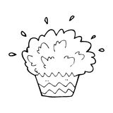 Cartoon exploding cupcake Stock Photos
