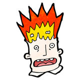 Cartoon exploding head Royalty Free Stock Images
