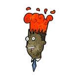 Cartoon exploding head Stock Photos