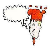 Cartoon exploding head man Stock Photo