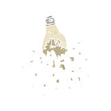 Cartoon exploding light bulb Royalty Free Stock Photography