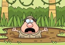 Free Cartoon Explorer Quicksand Stock Image - 47714861