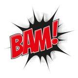 Cartoon explosion bam Royalty Free Stock Photography