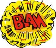 Cartoon explosion blam Stock Photos