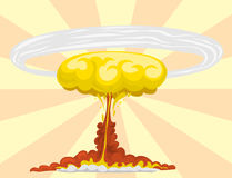 Cartoon explosion boom effect animation game sprite sheet explode burst blast fire comic flame vector illustration. Stock Image