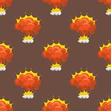 Cartoon explosion boom effect seamless pattern animation game sprite sheet explode burst blast fire comic flame vector. Cartoon explosion boom effect animation Stock Photography