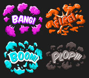Cartoon Explosion Effects Set Royalty Free Stock Photography