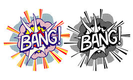 Cartoon explosion pop-art style Royalty Free Stock Images
