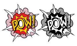Cartoon explosion pop-art style Royalty Free Stock Photos