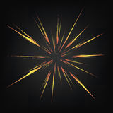 Cartoon Explosion, Star Burst Stock Image