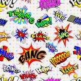Cartoon Explosions Background Stock Image