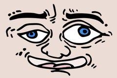 Cartoon expression Stock Photography