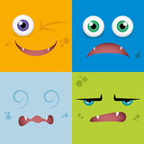 Cartoon Expression face Stock Images