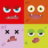 Cartoon Expression face Royalty Free Stock Images