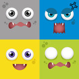 Cartoon Expression face Stock Image
