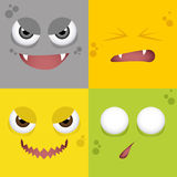 Cartoon Expression face Stock Photography