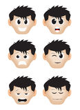 Cartoon expression male Royalty Free Stock Photography