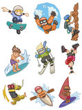 Cartoon Extreme  sport icon Stock Image